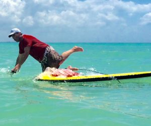 how to get back on a paddle board after falling