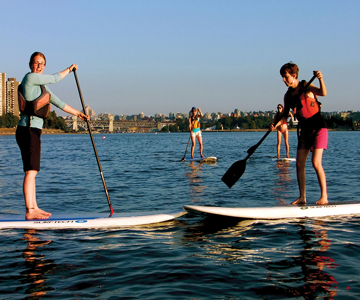 first paddle boarding outing